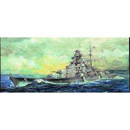 "CUIRASSE ALLEMAND ""BISMARCK"" 1941 . Maquette de navire de guerre. Trumpeter 1/700e"