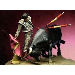 Pegaso metallfiguren.75mm.Matador mit Stier.