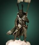 Crécy Models 54mm.Chevalier Templier 1250, figurine à peindre.