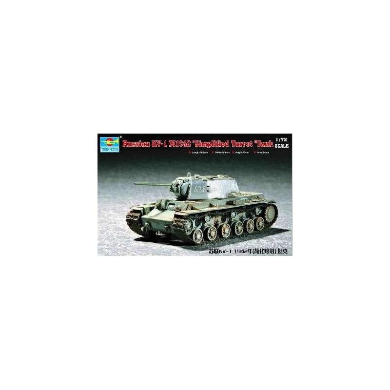 Trumpeter 1/72e CHAR LOURD SOVIETIQUE KV-1 1942 (tourelle modéle simplifiée)