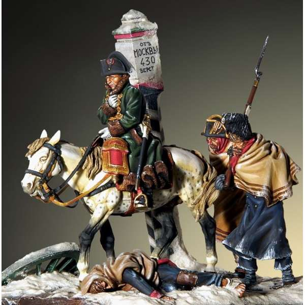 Napoleonic figure kits.The withdrawing of Napoleon from Russland.