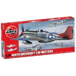 NORTH AMERICAN MUSTANG P-51D Maquette Airfix 1/24e