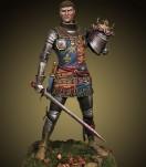 Figurine médiévale Crécy Models Henri V à la bataille d'Azincourt 75mm.