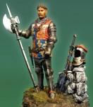 Duc D'York  Azincourt 1415. 54mmn. Henri V à la bataille d'azincourt. 75mm SIR EDMUND DE THORPE 75MM. Metal figure model kits.