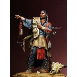 Figurine Pegaso Models 75mm Noble Guerrier Sioux.