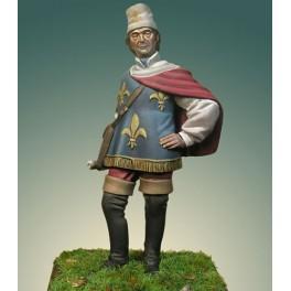 Crécy Model 54mm Heros Français à la bataille du XVème siècle -figurine à peindre-