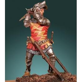 Crécy model 54mm.Chevalier du XVème siècle -figurine à peindre-