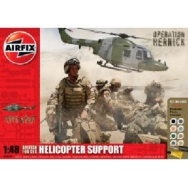 Airfix 1/48e COFFRET MAQUETTE - BRITISH FORCES HELICOPTER SUPPORT
