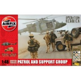 Airfix 1/48e COFFRET MAQUETTE - BRITISH FORCES PATROL AND SUPPORT GROUP