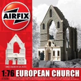 Ruine Airfix 1/76e EGLISE BELGE EN RUINE. Maquette de diorama.
