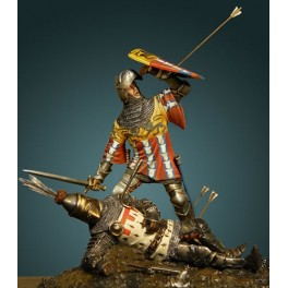Crécy Models 54mm Comte de Richmont et lord Dampierre au XVème siècle, figurine historique.