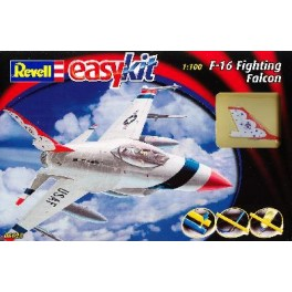 "General Dynamic F-16 Fighting Falcon ""Easy Kits"" Maquette Revell 1/100e."