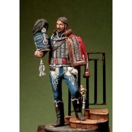 Figurine Romeo Models 54mm Le capitaine des hussards - 1813