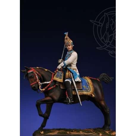 Romeo Models,75mm, Grenadier officer in the Holstein Dragoon Regiment. Russia 1756-Figure kits.