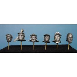Soldiers 54mm.Roman Helmet ,IIe-IVe century figure kits.