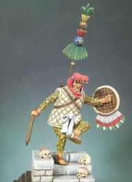 Andrea miniatures,90mm.Figurine de Capitaine Aztec,1521.
