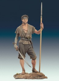 Figurine de Ronin,1650. Andrea miniatures,75mm.