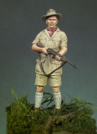 Andrea miniatures,54mm.African Hunter figure kits.