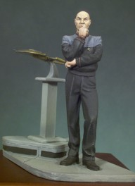 Andrea miniatures,54mm.Starship Commander figure kits.