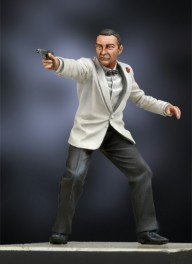 Andrea Miniatures 54mm Licence To Kill  Figurine de James bond 007 Sean Connery.