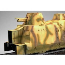 Wagon blinbé Geschutzwagen ,train d'artillerie Allemand. Maquette Trumpeter 1/35e