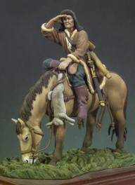 Andrea miniatures,54mm,Hun Horse Archer (450) figure kits.