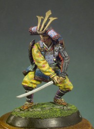 Andrea miniatures,vollfiguren 54mm.Samurai-Krieger,1300.