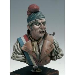 Andrea miniatures,Bust 1/10.Sans Culotte.1793.