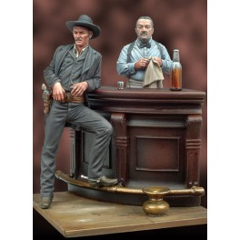 Andrea miniatures,54mm.Lone Star Saloon,figure kits.