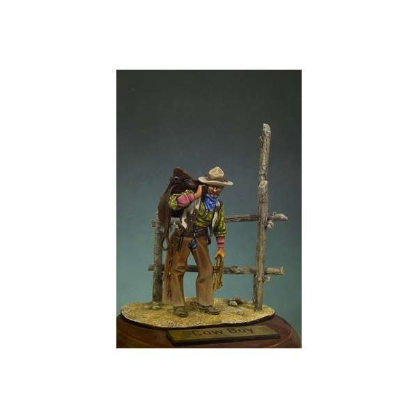 Figurine Andrea miniatures 54mm. Cowboy. Figurine de collection à monter et à peindre.