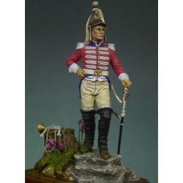 Figurine de Trompette de Cuirassier Andrea Miniatures 54mm.