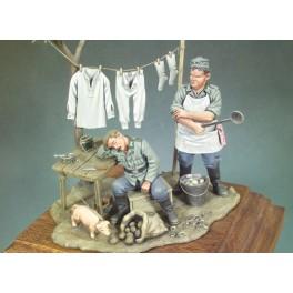 Andrea miniatures,54mm figure kits. Off-Duty.