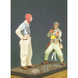 Andrea miniatures,54mm.U.S. Marines pilot and officer deck figure kits.