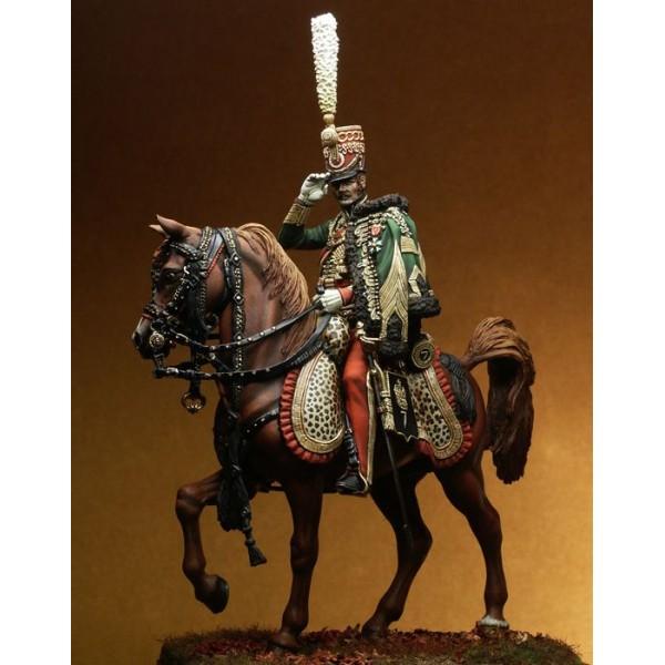 Figurine Pegaso 75mm.Colonel of the 7th Regiment Hussars, 1813 figure kits.