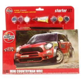 Maquette avec peinture et pinceaux - MINI COUNTYMAN WRC Airfix 1/32e.