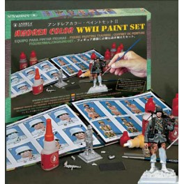 Andrea miniatures.Andrea Color paint set II (WW II).