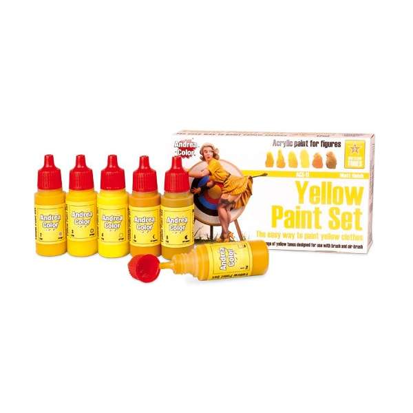 Andrea miniatures.Yellow Paint Set.