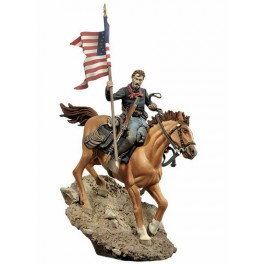 U.S. Cavalry Flag Bearer, 1876 figure kits . Andrea Miniatures