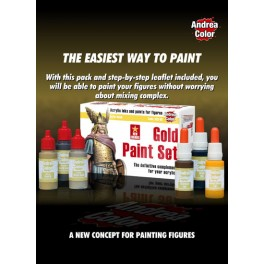 Andrea miniatures.Gold Paint Set.