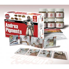Andrea miniatures.Natural Earth Pigments Set.