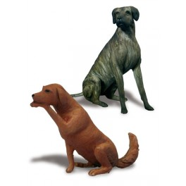Andrea miniatures,54mm.Dogs 2 figure kits.