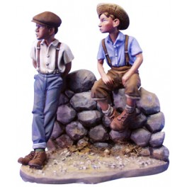 Andrea miniatures,54mm figuren.Lausbuben (2 Figuren).