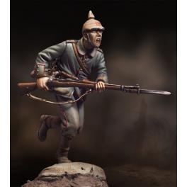 Andrea ,54mm.Charging German Infantryman, 1915. Historical figure kits.