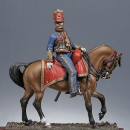 Metal Models,54mm, Mounted captain 9th of Hussards 1814 Figure kits.