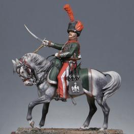 Metal Models 54mm Figurine  de Chef d' escadron des chasseurs à cheval en 1809