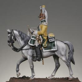 Metal Models,54mm, Mounted trumpeter 19th regiment of dragoons figure kits.