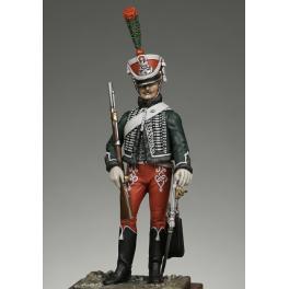 Soldat de Napoléon-METAL MODELES, figurine de  Garde d'honneur 1er regiment,54mm.