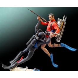 Figurine de James Bond 007,54mm.Combat sous -marin de Andrea Miniatures.