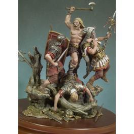 .Bataille de Teutobourg , 9 septembre aprés JC -figurines à peindre -Andrea miniatures,54mm.Les Barbares Arrivent..