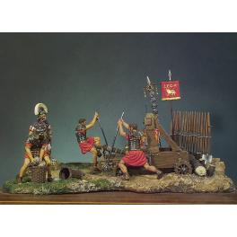 Andrea miniatures,54mm.Catapulte Romaine.